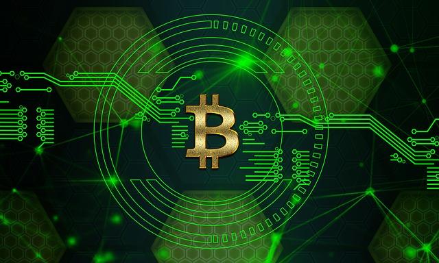bitcoin zelená barva